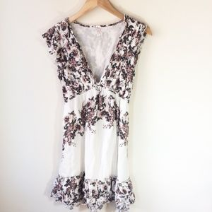 Free People Ruffle Floral Prairie Dress